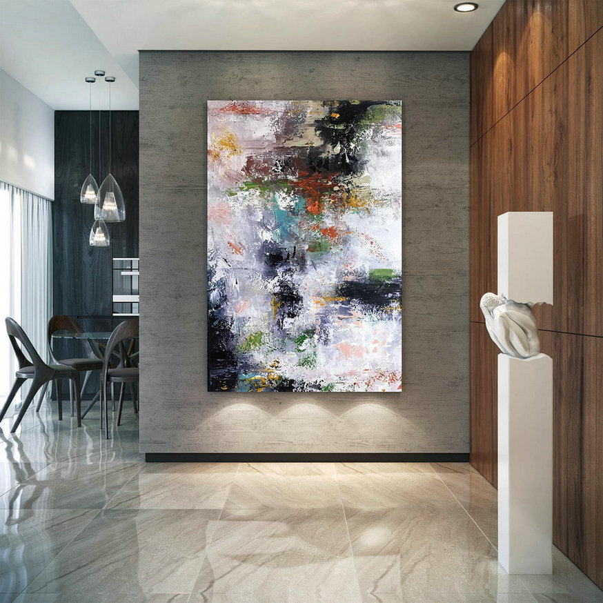 Large Painting On Canvas,Original Painting On Canvas,Painting Wall Art,Large Wall Art Decor,Painting Canvas Art Bnc080,Oversized Kitchen Art