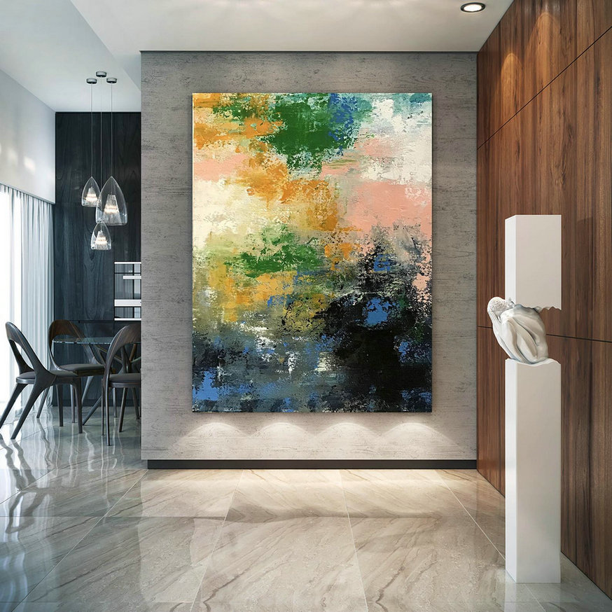Large Abstract Painting,Modern Abstract Painting,Texture Painting,Palette Knife Canvas,Colorful Abstract,Texture Wall Art Bnc075,Big Canvas Sizes