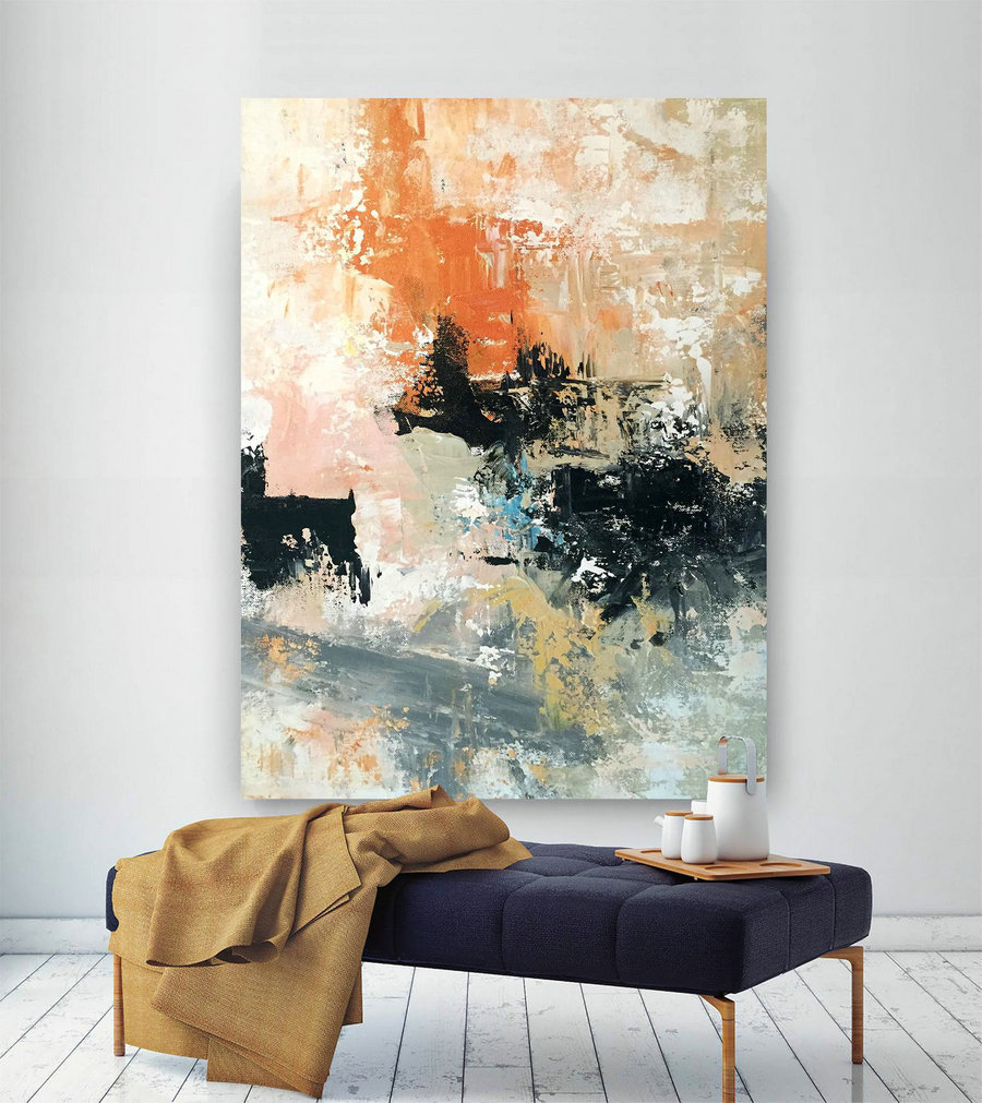 Large Abstract Wall Art,Extra Large Abstract Wall Art,Large Interior Decor,Colorful Abstract,Gallery Wall Art Bnc073,Large Wall Art Canada