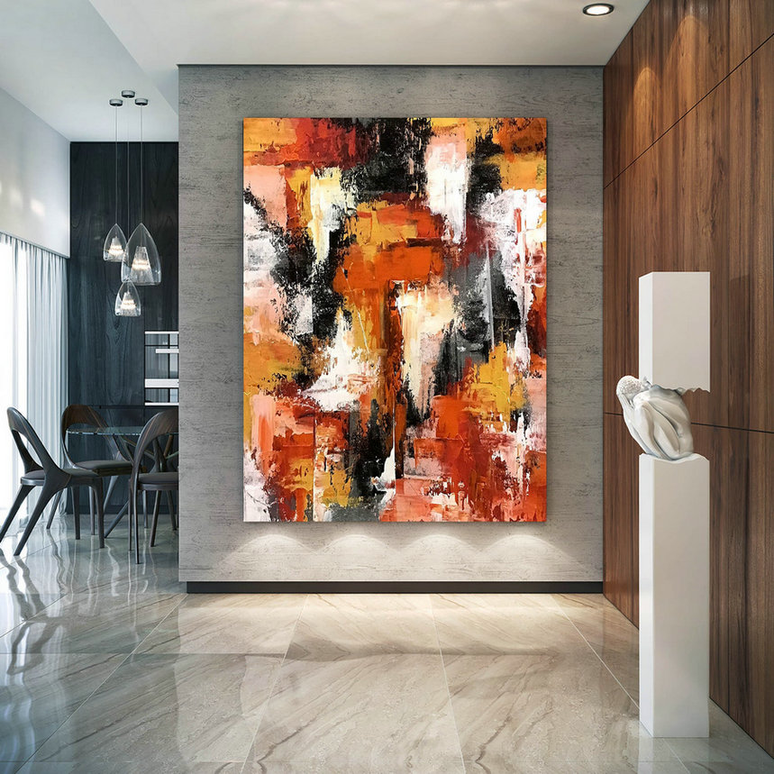 Large Abstract Painting On Canvas,Large Painting On Canvas,Painting Colorful,Gold Canvas Painting,Home Decor Modern D2C027,Modern Art On Canvas For Sale