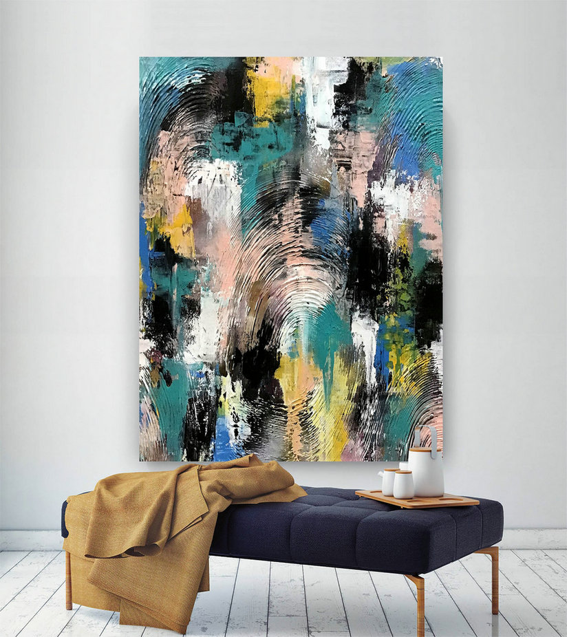 Large Modern Wall Art Painting,Large Abstract Wall Art,Huge Canvas Painting,Original Abstract,Best Wall Art,Abstract Texture Art D2C025,Cheap Canvas Art Decor