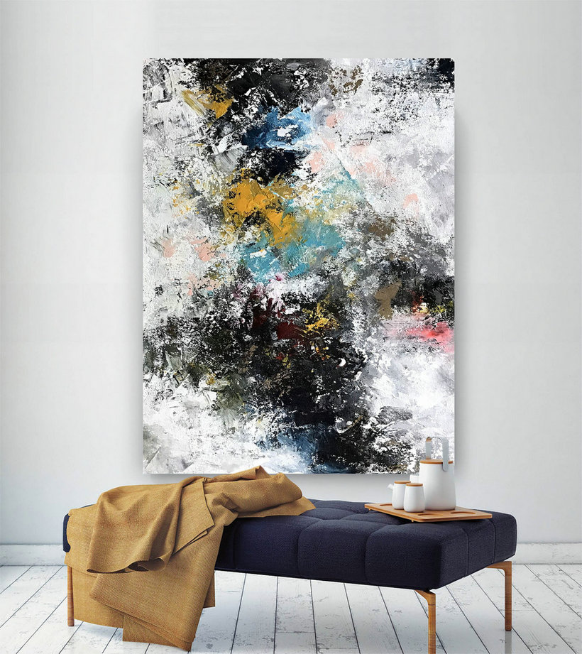 Large Abstract Wall Art,Original Abstract Wall Art,Xl Abstract Painting,Abstract Canvas Art,Abstract Wall Art Bnc069,Oversized Landscape Posters