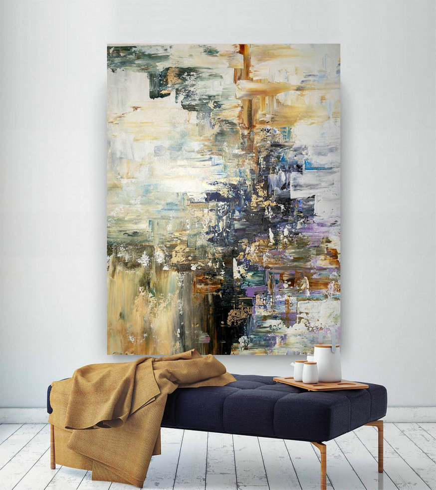 Large Abstract Painting,Modern Abstract Painting,Painting Home Decor,Decor Art,Xl Abstract Painting,Acrylic Textured Art Bnc053,Large Canvas Art Online
