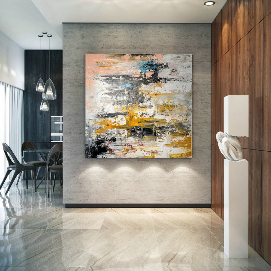 Large Modern Wall Art Painting,Large Abstract Wall Art,Painting Home Decor,Large Abstract Art,Wall Art Canvas Bnc050,Giant Big Canvas