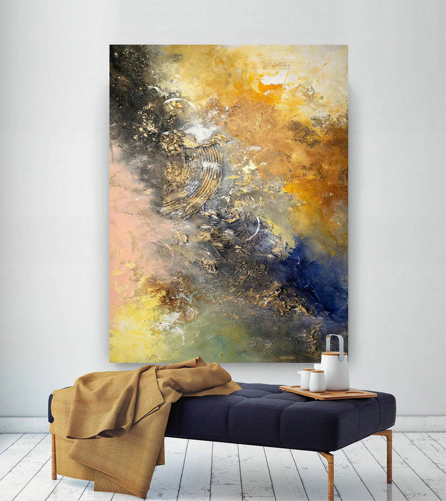 Large Painting On Canvas,Extra Large Painting On Canvas,Texture Art Painting,Large Art On Canvas,Large Size Art Bnc049,Best Large Canvas