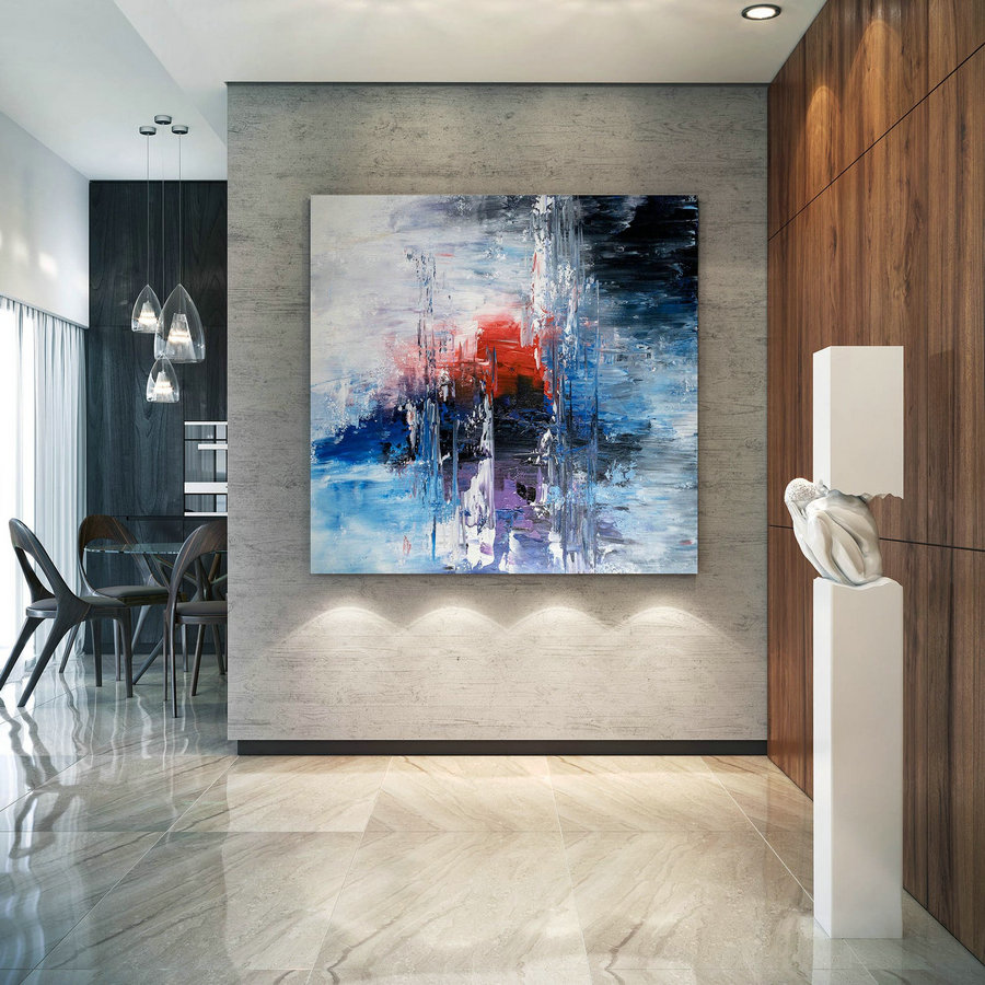 Large Abstract Painting,Modern Abstract Painting,Livingroom Decor,Square Painting,Original Abstract,Textured Art Bnc002,Extra Large Modern Art