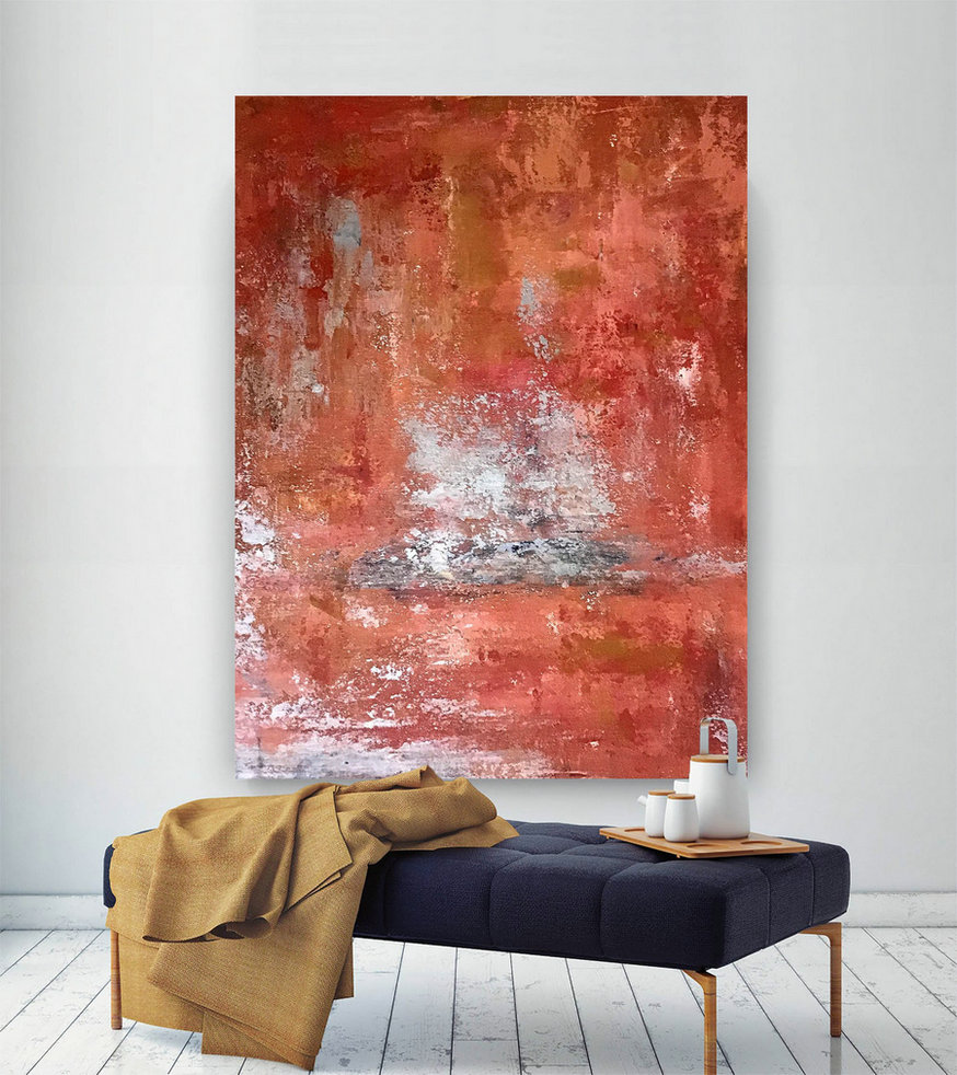Large Painting On Canvas,Extra Large Painting On Canvas,Large Art On Canvas,Large Interior Art,Square Painting B2C008,Large Canvas Floral Art