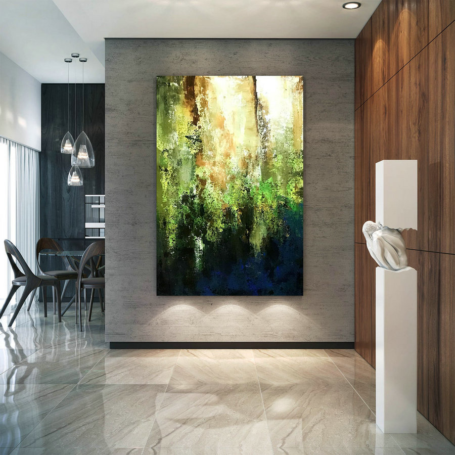 Large Modern Wall Art Painting,Large Abstract Wall Art,Painting Colorful,Xl Abstract Painting,Bedroom Wall Art B2C007,Moderncanvas Art