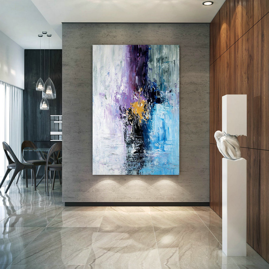 Large Abstract Painting,Original Painting Large Paintings,Above Bed Decor,Oil Hand Painting,Large Interior Decor Bnc024,Large Contemporary Canvas
