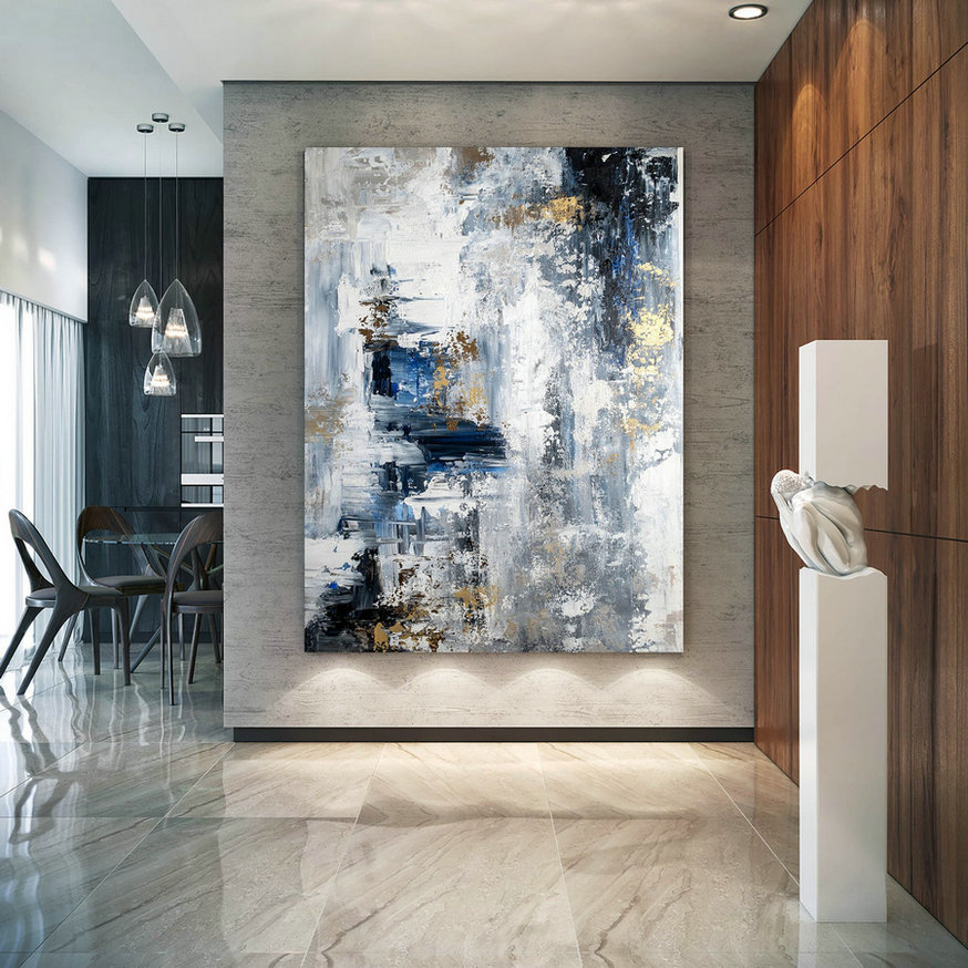 Large Abstract Painting,Modern Abstract Painting,Oil Hand Painting,Office Wall Art,Original Abstract,Textured Art Bnc023,Huge Canvas Art For Cheap