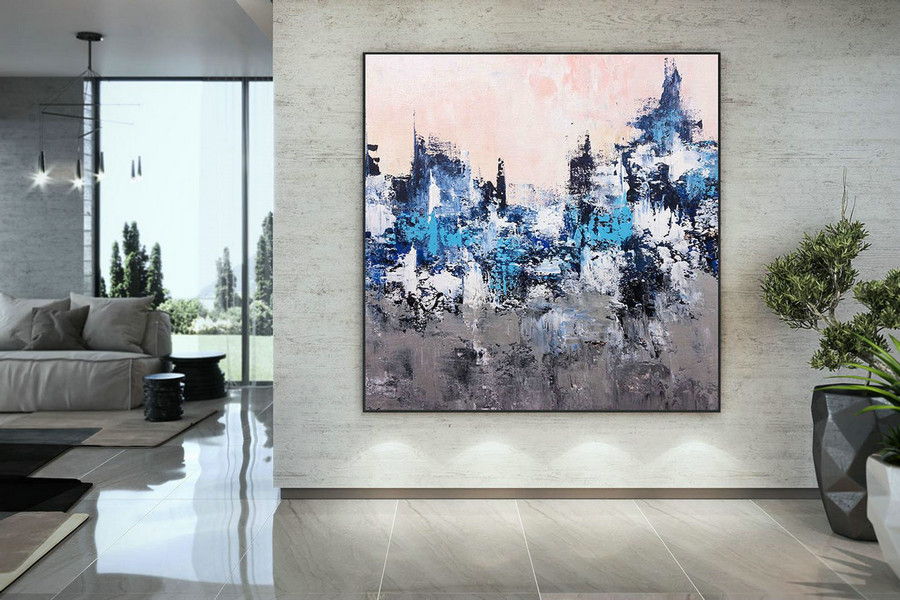 Large Modern Wall Art Painting,Large Abstract Painting On Canvas,Painting Colorful,Modern Oil Canvas,Bathroom Wall Art Dmc214,Oversized Floral Canvas Art