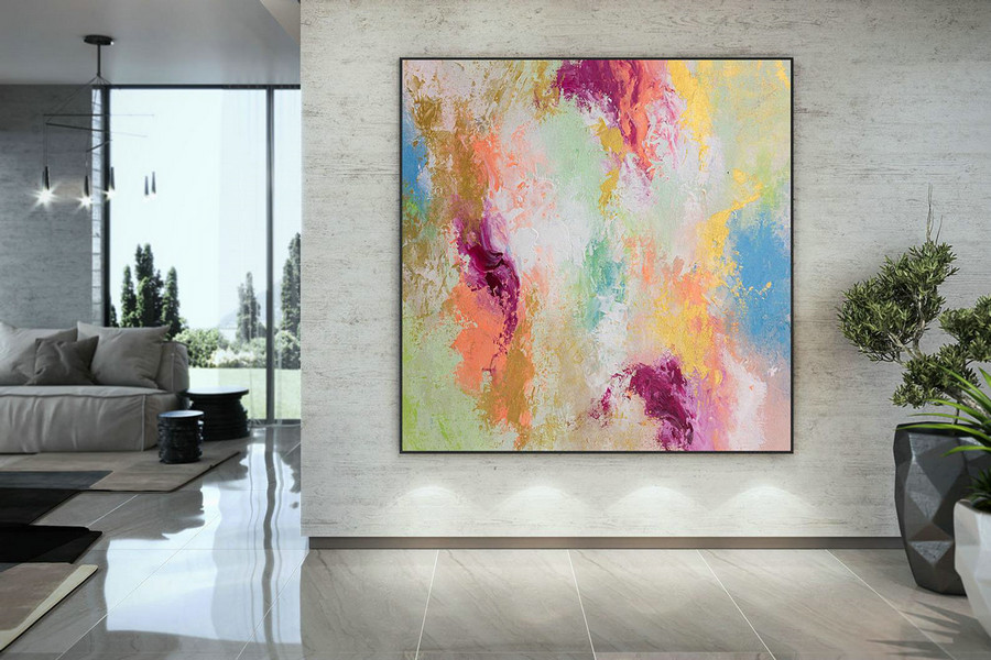 Large Abstract Painting,Large Abstract Painting On Canvas,Painting Colorful,Colorful Abstract,Above Bed Decor Dmc213,Order Large Canvas