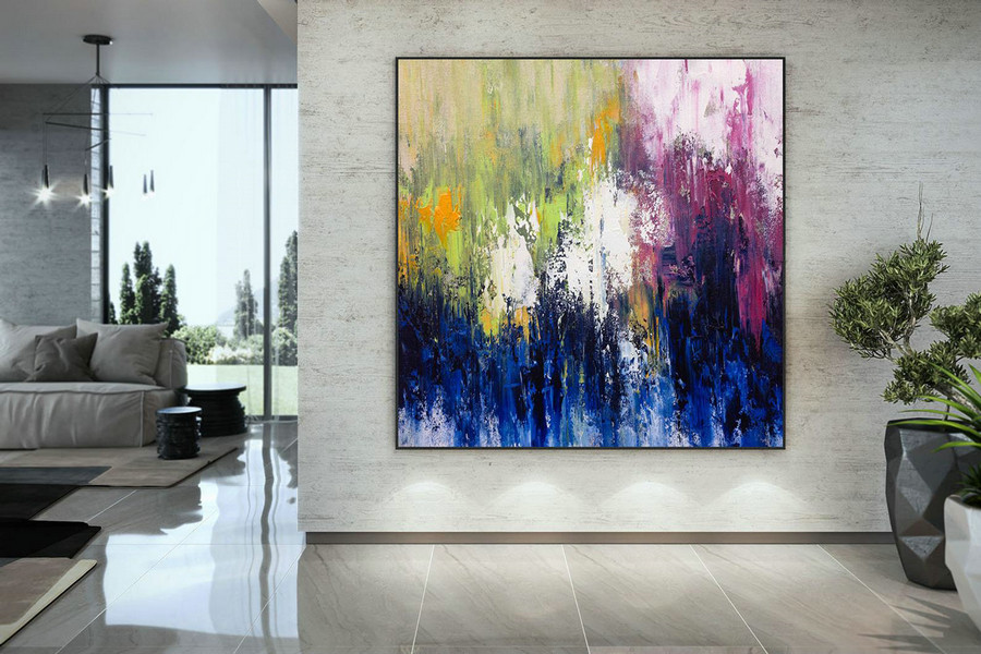 Large Abstract Painting,Modern Abstract Painting,Painting Colorful,Large Canvas Art,Abstract Painting,Acrylic Textured Dmc212,Large Pieces Of Artwork For Sale