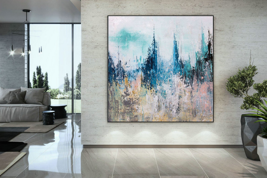 Extra Large Wall Art Palette Knife Artwork Original Painting,Painting On Canvas Modern Wall Decor Contemporary Art, Abstract Painting Dmc206,Wall Art For Large Wall