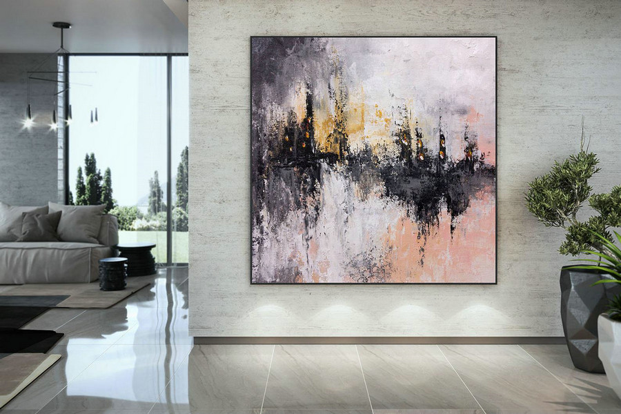 Extra Large Wall Art Palette Knife Artwork Original Painting,Painting On Canvas Modern Wall Decor Contemporary Art, Abstract Painting Dmc203,Buy Large Canvas Online