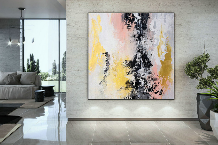 Extra Large Wall Art Palette Knife Artwork Original Painting,Painting On Canvas Modern Wall Decor Contemporary Art, Abstract Painting Dmc174,Photo Art On Canvas