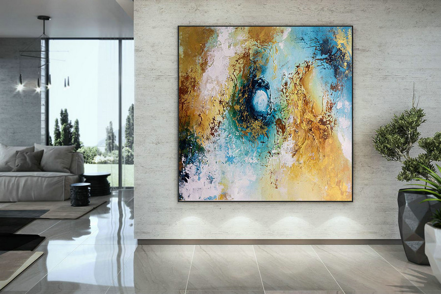 Extra Large Wall Art Palette Knife Artwork Original Painting,Painting On Canvas Modern Wall Decor Contemporary Art, Abstract Painting Dmc171,Where To Buy Large Paintings