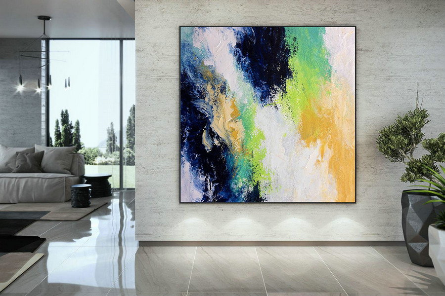 Extra Large Wall Art Palette Knife Artwork Original Painting,Painting On Canvas Modern Wall Decor Contemporary Art, Abstract Painting Dmc170,Large Pieces Of Wall Art