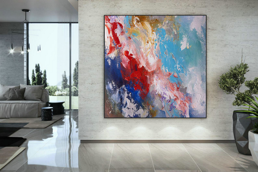 Extra Large Wall Art Palette Knife Artwork Original Painting,Painting On Canvas Modern Wall Decor Contemporary Art, Abstract Painting Dmc164,Art On A Canvas