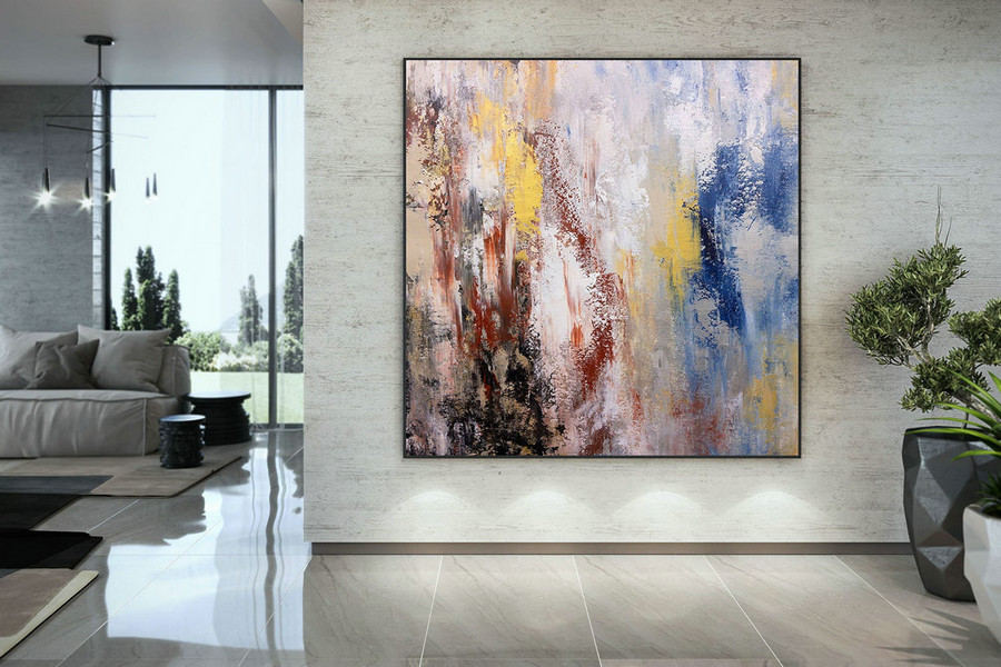 Extra Large Wall Art Palette Knife Artwork Original Painting,Painting On Canvas Modern Wall Decor Contemporary Art, Abstract Painting Dmc162,Buy Painting Canvas