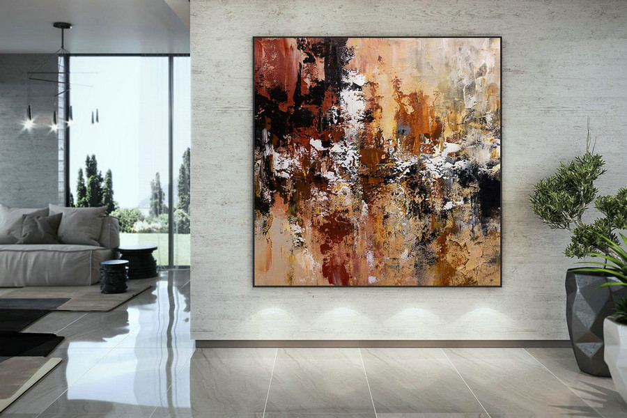 Extra Large Wall Art Palette Knife Artwork Original Painting,Painting On Canvas Modern Wall Decor Contemporary Art, Abstract Painting Dmc161,Large Size Canvas