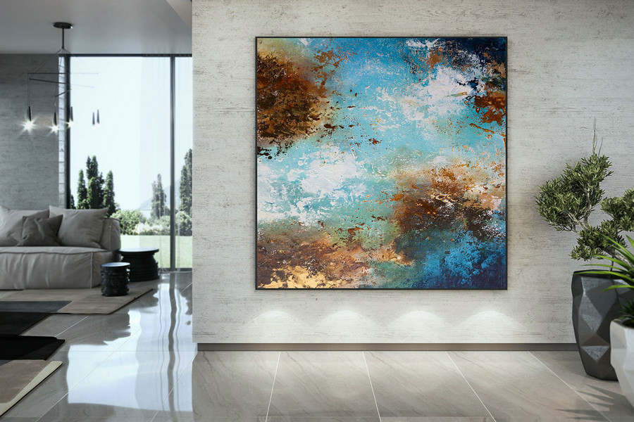 Extra Large Wall Art Palette Knife Artwork Original Painting,Painting On Canvas Modern Wall Decor Contemporary Art, Abstract Painting Dmc151,Painted Canvas