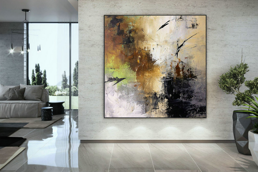 Extra Large Wall Art Palette Knife Artwork Original Painting,Painting On Canvas Modern Wall Decor Contemporary Art, Abstract Painting Dmc150,Oversized Canvas Wall Art Sets