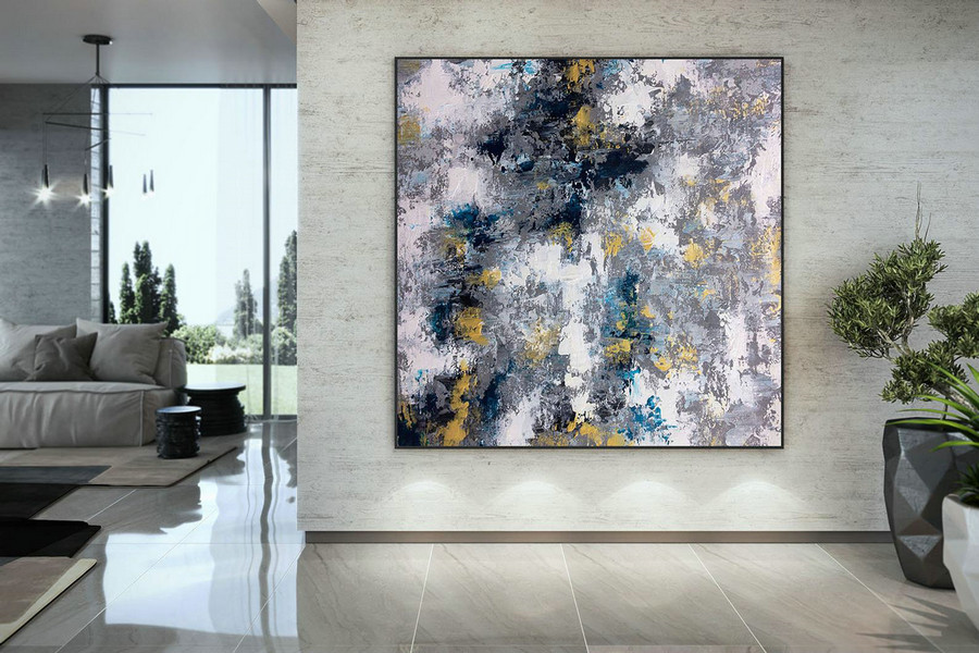Extra Large Wall Art Palette Knife Artwork Original Painting,Painting On Canvas Modern Wall Decor Contemporary Art, Abstract Painting Dmc144,Big Size Painting Canvas