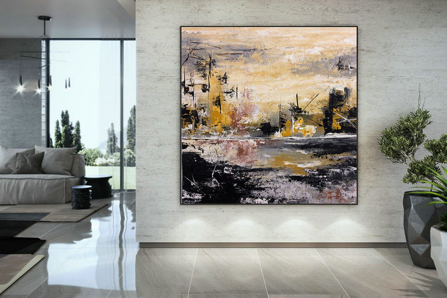 Extra Large Wall Art Palette Knife Artwork Original Painting,Painting On Canvas Modern Wall Decor Contemporary Art, Abstract Painting Dmc140,Fine Art Canvas