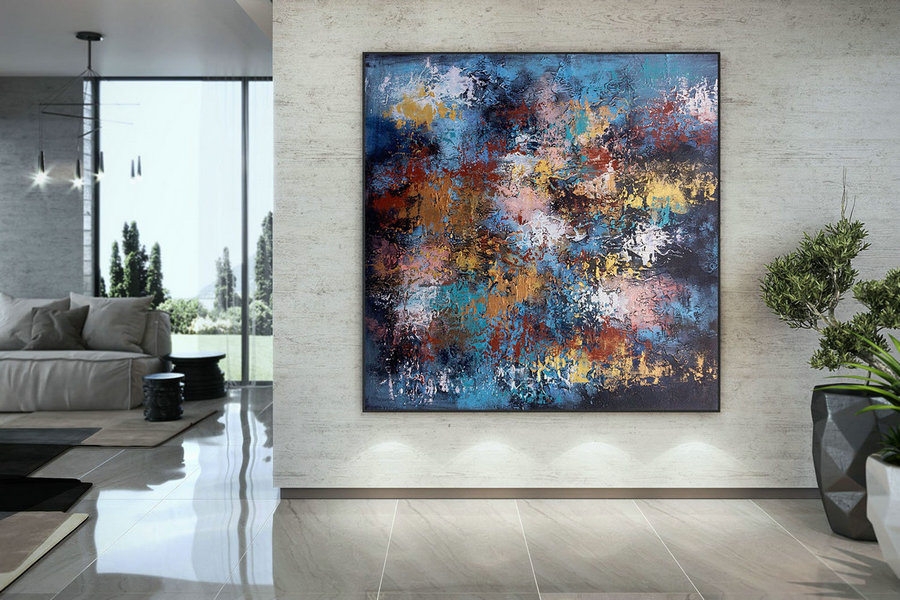 Abstract Canvas Art Extra Large Artwork Original Painting,Painting On Canvas Modern Wall Decor Contemporary Art, Abstract Painting Dmc111,Large Painting