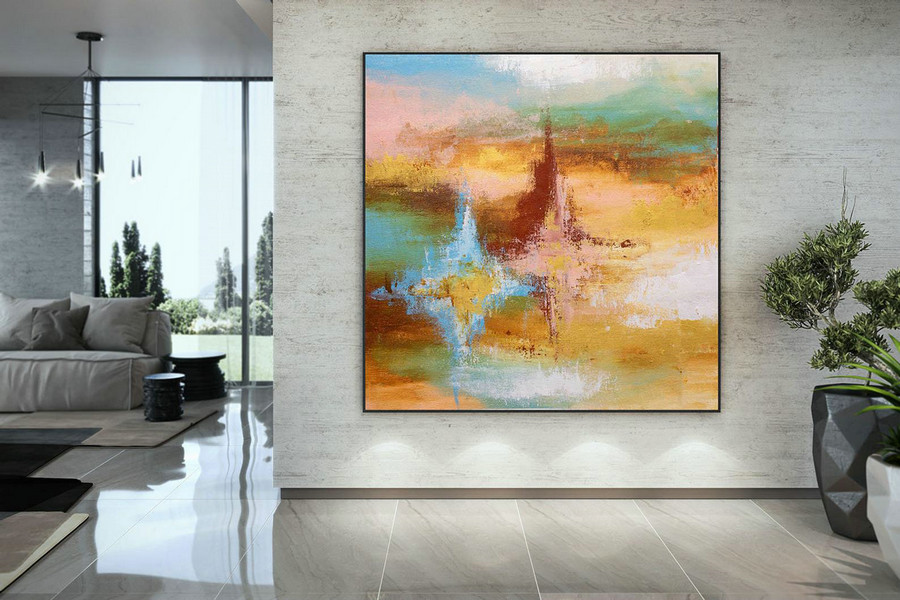Extra Large Wall Art Original Art Bright Abstract Original Painting On Canvas Extra Large Artwork Contemporary Art Modern Home Decor Dmc108,Canvas Artwork For Sale