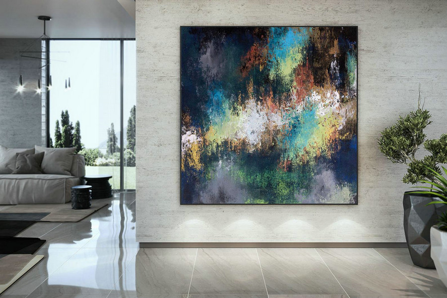 Large Abstract Painting,Modern Abstract Painting,Painting Colorful,Large Canvas Art,Abstract Painting,Acrylic Textured Dac058,Giant Wall Art Cheap