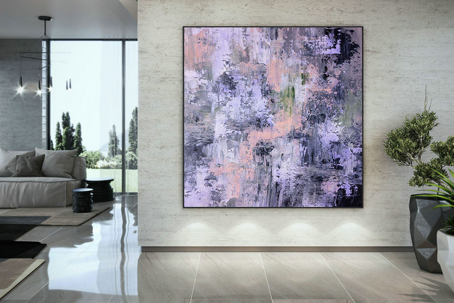 Large Abstract Painting,Modern Abstract Painting,Square Painting,Huge Canvas Art,Xl Abstract Painting,Textured Art Dac056,Large Wall Paintings For Living Room