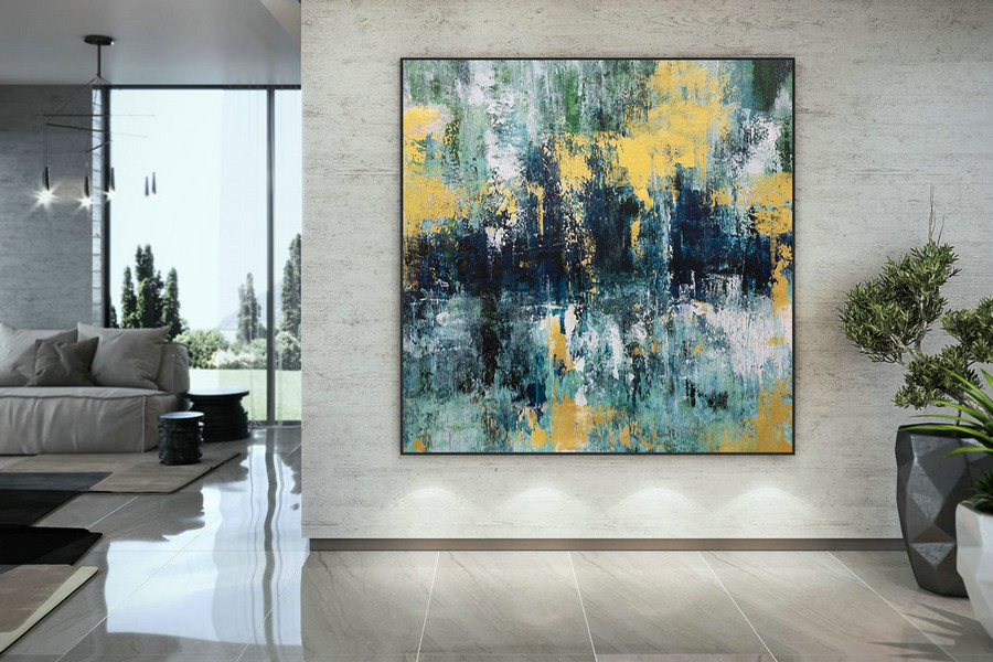 Large Abstract Painting,Modern Abstract Painting,Painting For Home,Bathroom Wall Art,Modern Abstract,Acrylic Textured Art Dac048,Get Canvas
