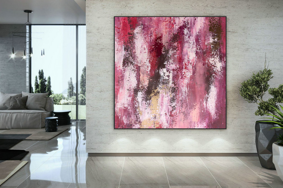 Large Abstract Painting,Large Abstract Painting On Canvas,Painting Home Decor,Modern Abstract,Oil Canvas Art Dac031,Red Canvas