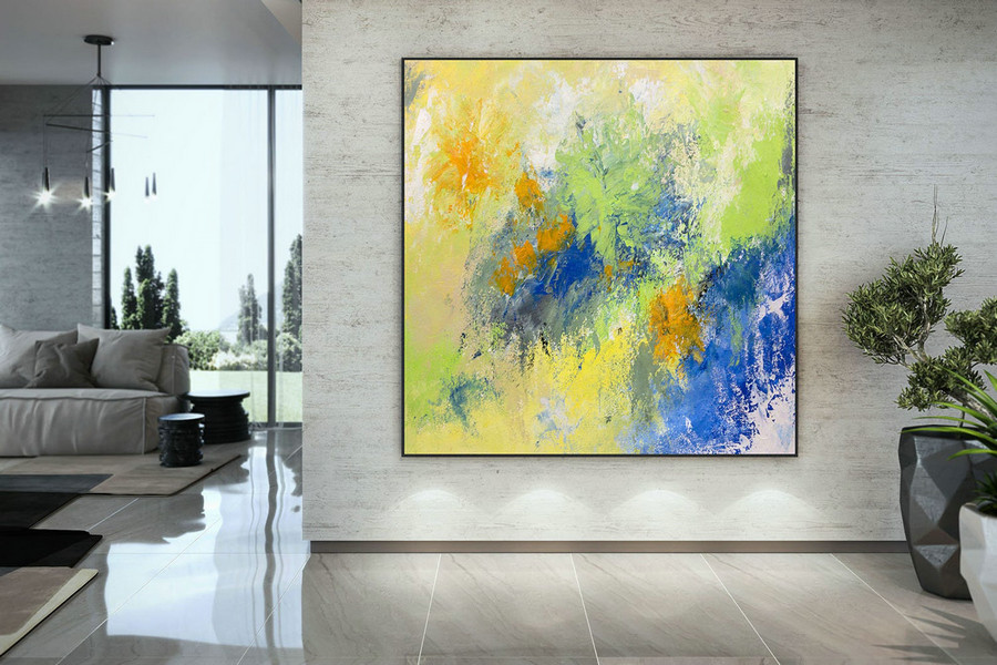 Extra Large Wall Art Original Handpainted Contemporary Xl Abstract Painting Horizontal Vertical Huge Size Art Bright And Colorful Dac010,Oversized Vertical Wall Art