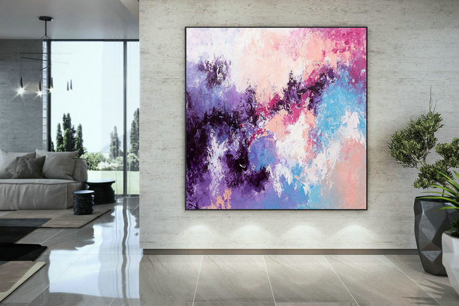 Large Abstract Painting,Bright Painting Art,Large Vertical Art,Colorful Abstract,Modern Textured Dac008,Large Pop Art Canvas