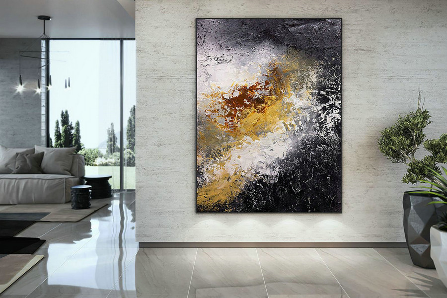 Extra Large Wall Art Palette Knife Artwork Original Painting,Painting On Canvas Modern Wall Decor Contemporary Art, Abstract Painting Dmc152,Large Modern Art Pieces
