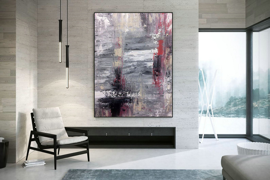 Original Abstract Canvas Art,Large Abstract Canvas Art,Oil Abstract Canvas,Square Painting,Colorful Abstract Dac022,Photo Canvas Wall Art