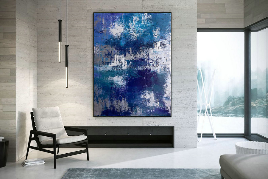 Original Abstract Canvas Art,Large Abstract Canvas Art,Abstract Wall Art,Original Abstract,Palette Knife Canvas Dac027,Giant Canvas Art Cheap
