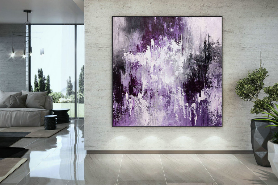 Extra Large Wall Art Palette Knife Artwork Original Painting,Painting On Canvas Modern Wall Decor Contemporary Art, Abstract Painting Dmc201,Huge Photo