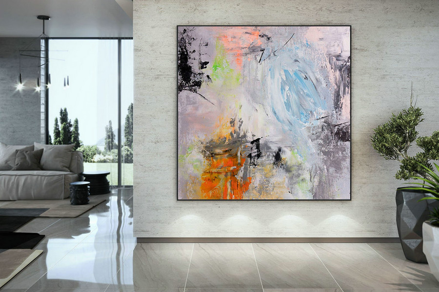 Extra Large Wall Art Palette Knife Artwork Original Painting,Painting On Canvas Modern Wall Decor Contemporary Art, Abstract Painting Dmc189,Large Colorful Canvas Art