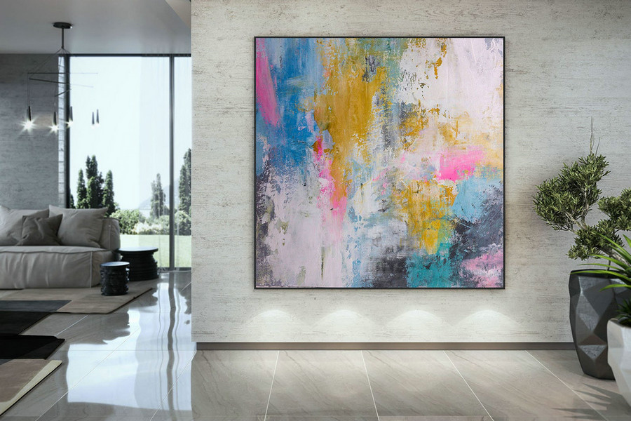 Extra Large Wall Art Palette Knife Artwork Original Painting,Painting On Canvas Modern Wall Decor Contemporary Art, Abstract Painting Dmc186,Buy Large Wall Art