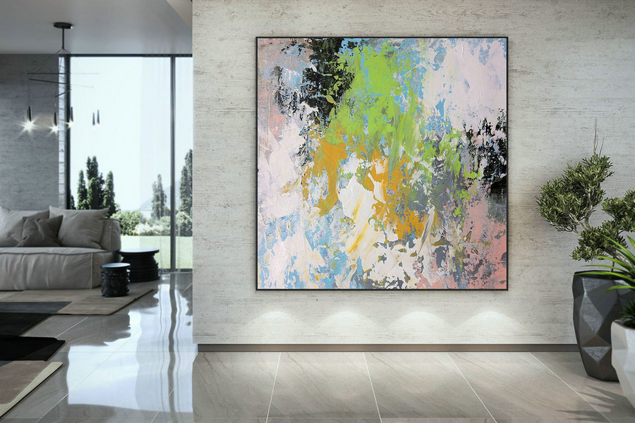 Extra Large Wall Art Palette Knife Artwork Original Painting,Painting On Canvas Modern Wall Decor Contemporary Art, Abstract Painting Dmc172,Buy Large Paintings