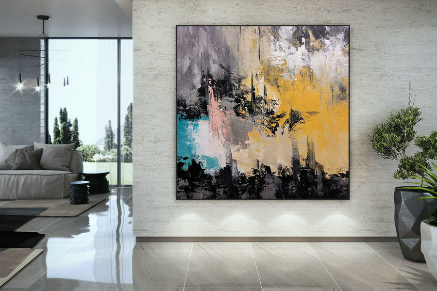 Modern Blush Pink Mint Extra Large Wall Art Abstract Painting Decor Original Painting On Canvas Modern Wall Decor Contemporary Art Dmc168,Abstract Art