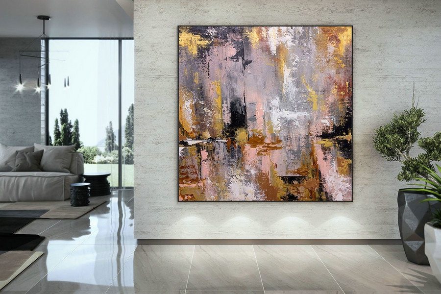 Extra Large Wall Art Palette Knife Artwork Original Painting,Painting On Canvas Modern Wall Decor Contemporary Art, Abstract Painting Dmc142,Large Abstract Art Canvas