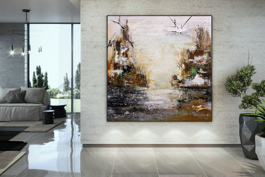 Extra Large Wall Art Palette Knife Artwork Original Painting,Painting On Canvas Modern Wall Decor Contemporary Art, Abstract Painting Dmc141,Canvas Pictures For Living Room