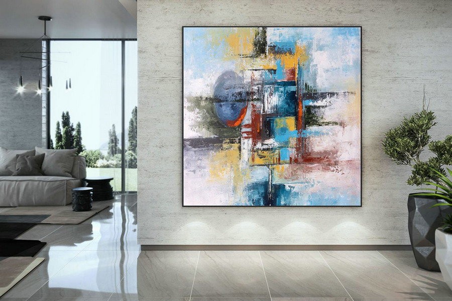 Extra Large Wall Art Palette Knife Artwork Original Painting,Painting On Canvas Modern Wall Decor Contemporary Art, Abstract Painting Dmc138,Long Wall Art