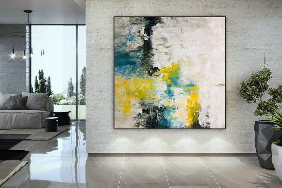 Extra Large Wall Art Palette Knife Artwork Original Painting,Painting On Canvas Modern Wall Decor Contemporary Art, Abstract Painting Dmc132,Oversizedart