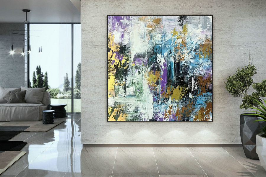 Extra Large Wall Art Palette Knife Artwork Original Painting,Painting On Canvas Modern Wall Decor Contemporary Art, Abstract Painting Dmc129,Canvas And Canvas Art